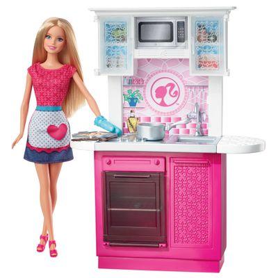 Boneca Barbie com Móvel - Cozinha - Mattel