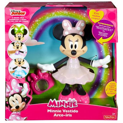 Boneca Minnie - Vestido Arco-Íris - Mickey Mouse Club House - Mattel - Disney