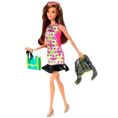 Boneca Barbie - Look do Dia - Vestido Geométrico - Mattel