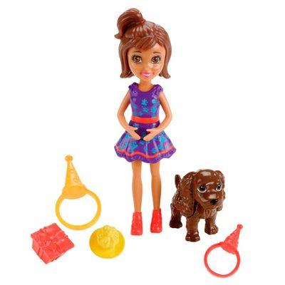 Boneca Polly Pocket - Aniversário Pet - Shani - Mattel