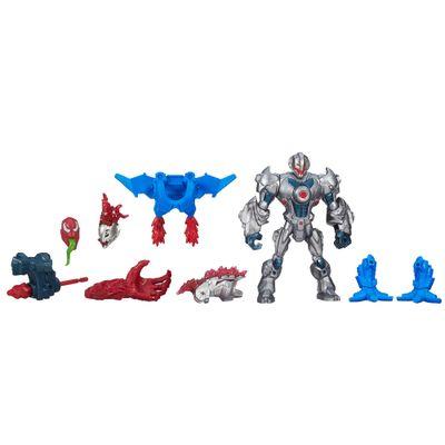 Boneco Transformável - 2 em 1 - Marvel Super Hero Mashers - Ultron e Carnage - Hasbro - Disney