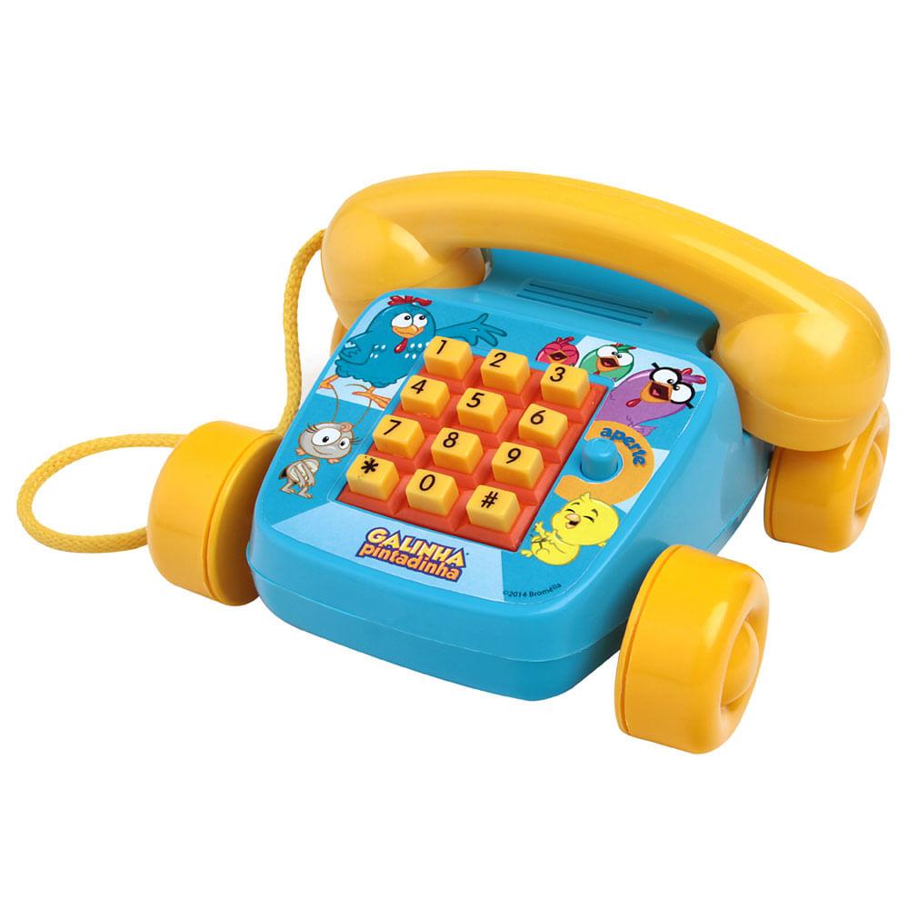 Telefone Infantil - Foninho da Galinha Pintadinhas - Elka
