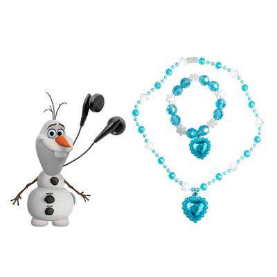 Kit Disney Frozen - Rádio FM + Colar + Pulseira - Elsa - Candide