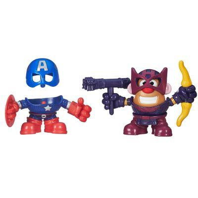 Mini Boneco Mr. Potato Head - Marvel - Capitão América e Hawkeye - Hasbro - Disney