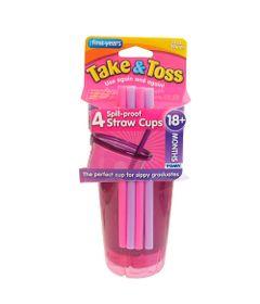 Copo-Com-Canudo-Colorido---4-Unidades---Rosa---Girotondo