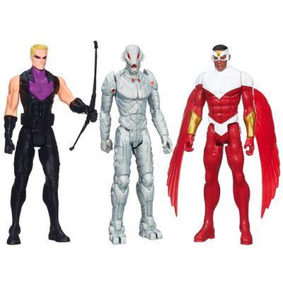 Kit Bonecos Marvel Avengers - Titan Hero Series - 30 cm - Hawkeye, Ultron e Falcon - Hasbro - Disney