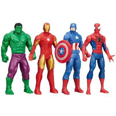 100110437-Kit-Bonecos-Marvel-Avengers-15-cm-Spider-Man-Capitao-America-Iron-Man-Hulk-Hasbro