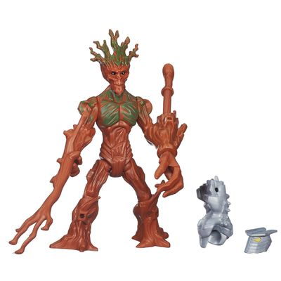 Boneco Transformável - 15 Cm - Marvel Super Hero Mashers Battle - Groot - Hasbro - Disney