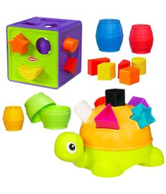 100110457-Tartaruga-com-Formas-Cubo-com-Formas-Barris-de-Encaixar-Playskool-Hasbro