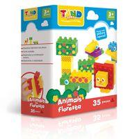 Bloco-de-Montar---Tand-Kids---40-pecas---Animais-na-Floresta---Toyster