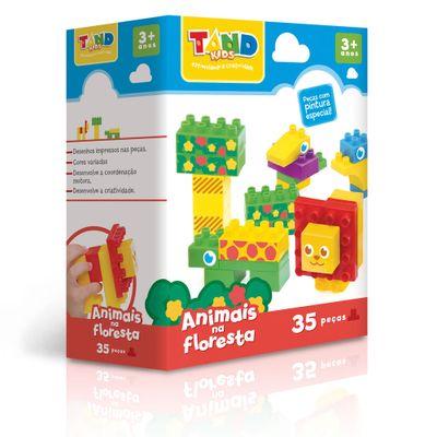 Bloco de Montar - Tand Kids - 40 peças - Animais na Floresta - Toyster