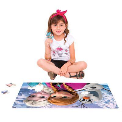 Quebra Cabeça Grandão Frozen 120 Peças 02214 Toyster