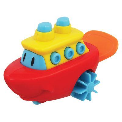 Brinquedo de Banho - Barquinho Aqua Zuum Vermelho - Dican
