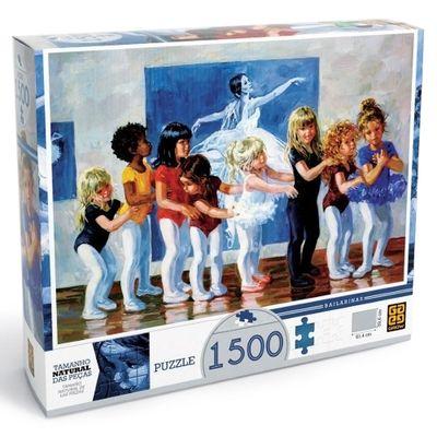Quebra-Cabeça - Pequenas Bailarinas - 1500 Peças - Grow