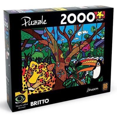 Quebra-Cabela Romero Britto - Amazon - 1000 Peças - Grow