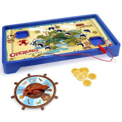 Jogo de Roleta Operando - Caça ao Tesouso - Jake e os Piratas da Terra do Nunca - Hasbro - Disney