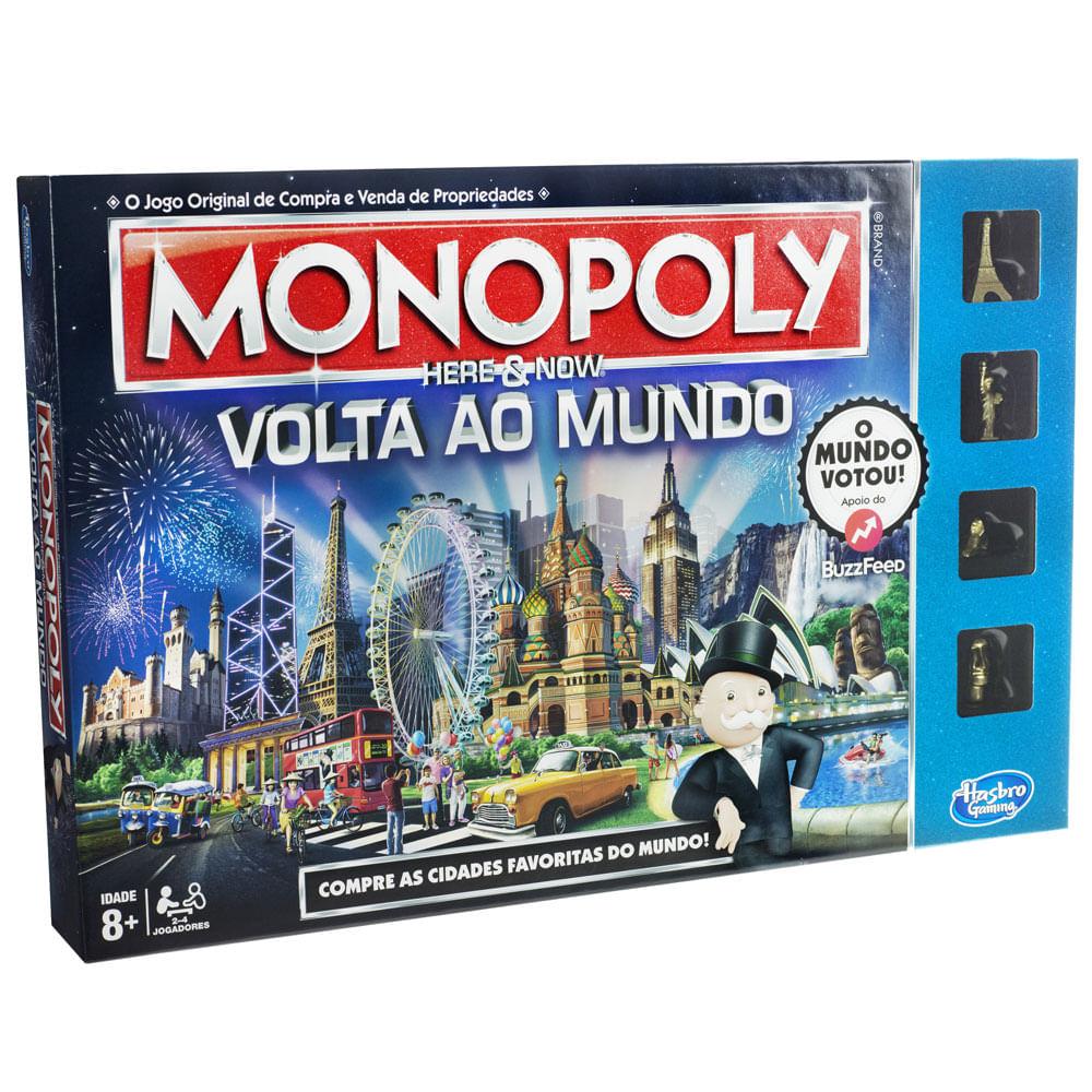 Jogo Monopoly - Volta ao Mundo - Hasbro