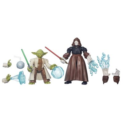 Bonecos-Hero-Mashers---Battle-Pack---Star-Wars---Episodio-VII---Mestre-Yoda-vs-Emperor---Hasbro