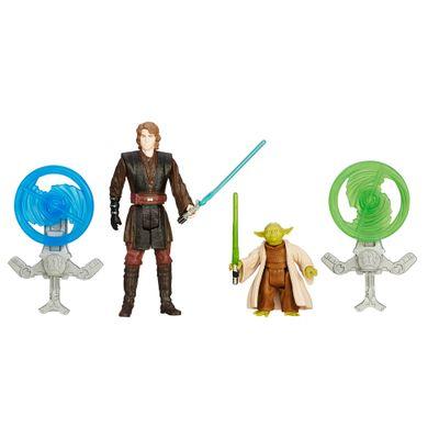 Boneco Articulado - 9 Cm - Star Wars Episódio VII - Anakin Skywalker e Mestre Yoda com Acessórios - Hasbro - Disney