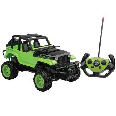 Carrinho de Controle Remoto - Série Garagem S/A - Savage Verde - Candide
