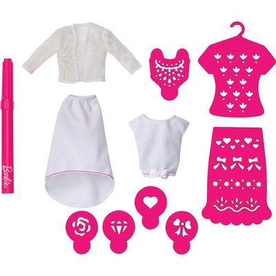 Refil - Barbie Airbrush Designer - Branco e Rosa - Mattel