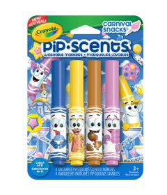Canetinha-Perfumavel---Pip-Scents---Carnival-Snacks-4-Cores---Crayola