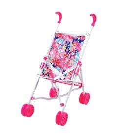 carrinho-de-boneca-rosa-floral-new-toys