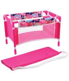berco-de-boneca-rosa-floral-new-toys