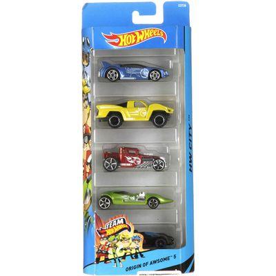 carrinhos-hot-wheels-pacote-com-5-carros-origin-of-awsome-5-mattel