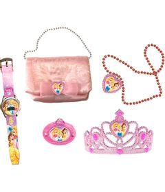 Conjunto-Princesas-Disney---Kit-Encantado-Radio---Relogio--Tiara---Bolsa-e-Colar---Candide