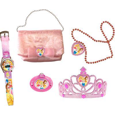 Conjunto Princesas Disney - Kit Encantado Radio - Relógio -Tiara - Bolsa e Colar - Candide