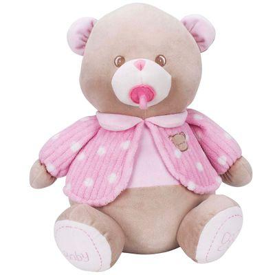 Pelúcia - Meu Ursinho de Pijama - Rosa - Buba