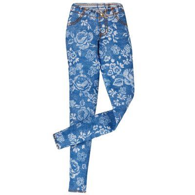 Roupinha para Boneca Barbie - Jeans Azul Florido - Mattel