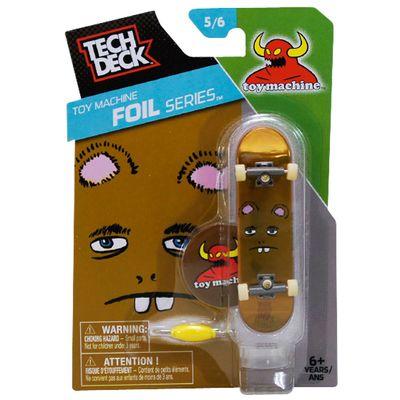 Skate de Dedo Tech Deck - Toy Machine 5/6 - Foil Series - Multikids