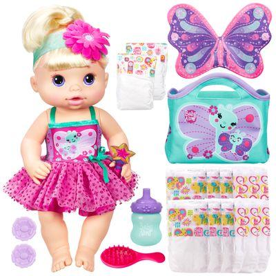 Boneca Baby Alive Fadinha + 2 Refis de Fraldas - Hasbro