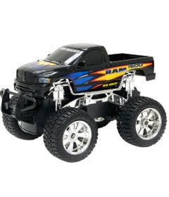 Carro-de-Controle-Remoto---Ram-Preto---1-24---27MHz---Yes-Toys