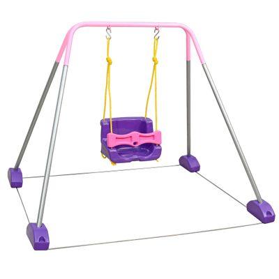 Jundbalanço com Estrutura Rosa - 1 Cadeira - Jundplay