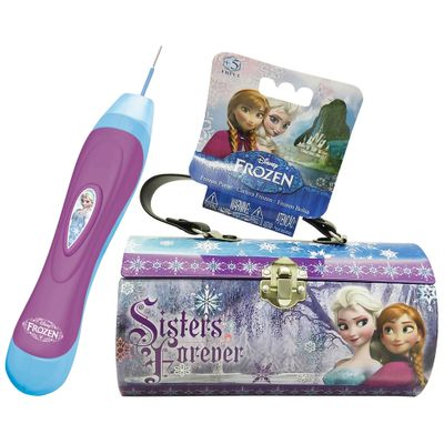 Kit Bolsa de Metal + Aplicador de Contas - Disney Frozen - Intek
