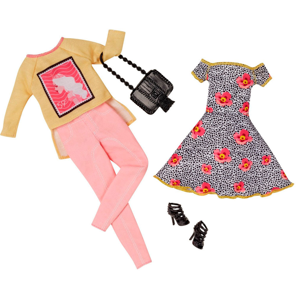 Pack Com 2 Vestidos Barbie Fashion - Serie 7 - Mattel