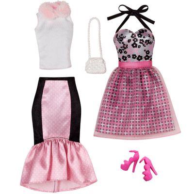 Pack Com 2 Vestidos Barbie Fashion - Serie 12 - Mattel