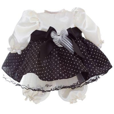 Roupa para Boneca Adora Doll - Vestido Preto e Branco de Poás - Shiny Toys