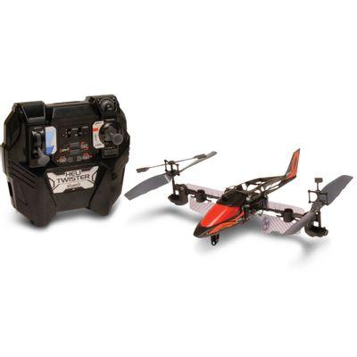 Helicóptero de Controle Remoto - Heli Twister Preto e Prata - DTC