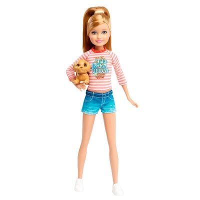 Boneca Barbie - Irmãs com Pet - Irmã Caçula - Mattel