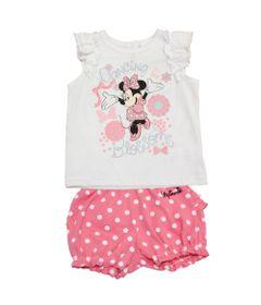 Conjunto-Blusa-e-Short---Minnie---Branco-e-Rosa---Disney
