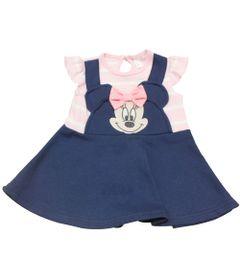 Vestido-com-Listras---Minnie---Rosa-e-Azul-Marinho---Disney