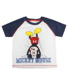 Camisa-Manga-Curta---Mickey---Branca-e-Azul-Marinho---Disney
