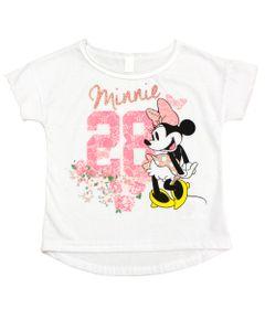 Blusa-Manga-Curta-com-Gliter---Minnie---Branca---Disney