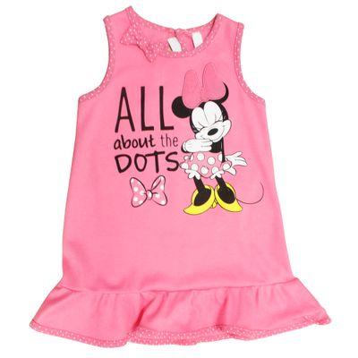 Vestido com Laço - Minnie - Rosa - Disney