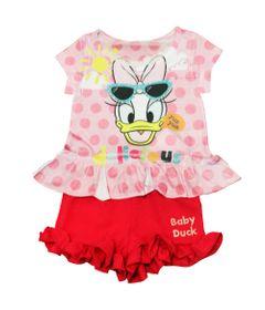 Conjunto-Blusa-Manga-Curta-e-Short---Margarida---Rosa-e-Pink---Disney