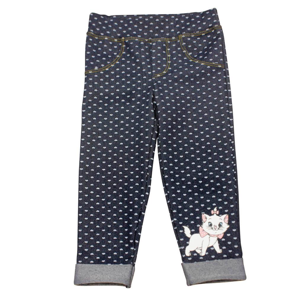 Calça Legging - Marie - Jeans com Poás - Disney - 1